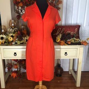 Anne Klein| women's orange knee length dress